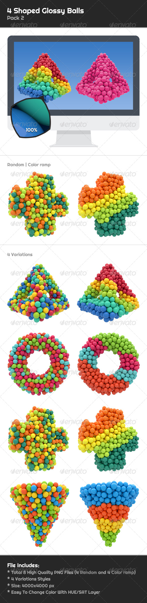 GraphicRiver 4 Shaped Glossy Balls Pack 2 6850080