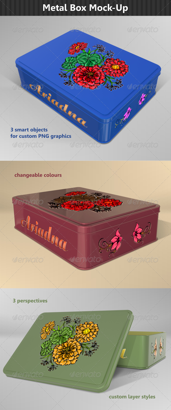 GraphicRiver Rectangular Metal Box Mock-Up 6850311