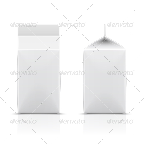 GraphicRiver White Cardboard Milk Package 6850382