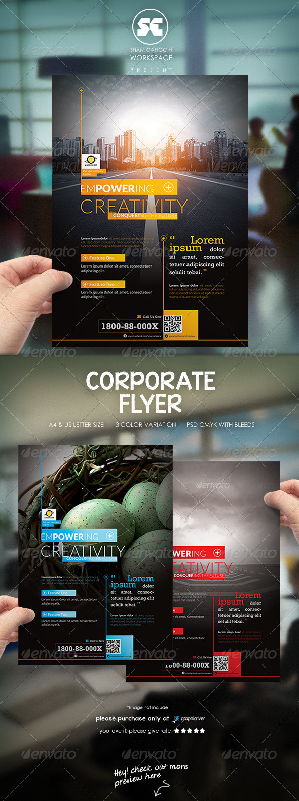 Clean & Modern Corporate Flyer Magazine Ads