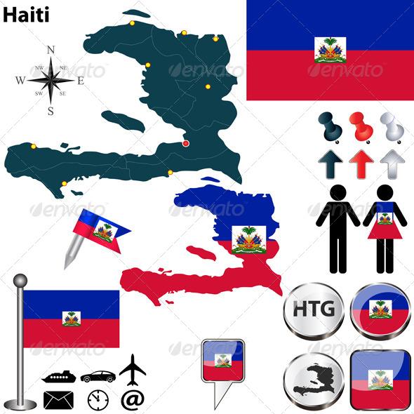GraphicRiver Map of Haiti 6850704
