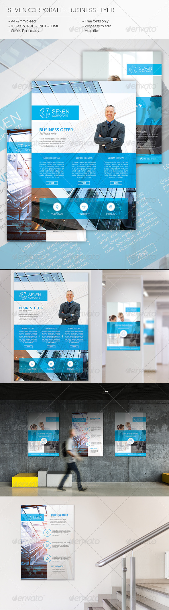 GraphicRiver Seven Corporate Business Flyer 6836499