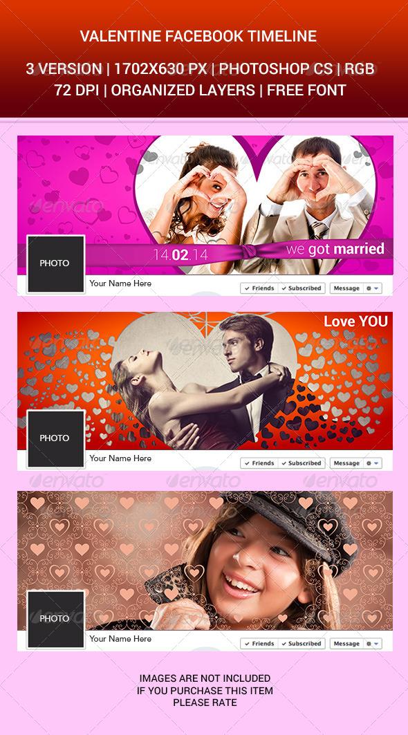 GraphicRiver Valentine Facebook Timeline Cover 6850989