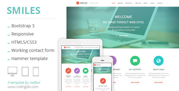 ThemeForest Smiles Responsive Multi-purpose HTML Template 6851010