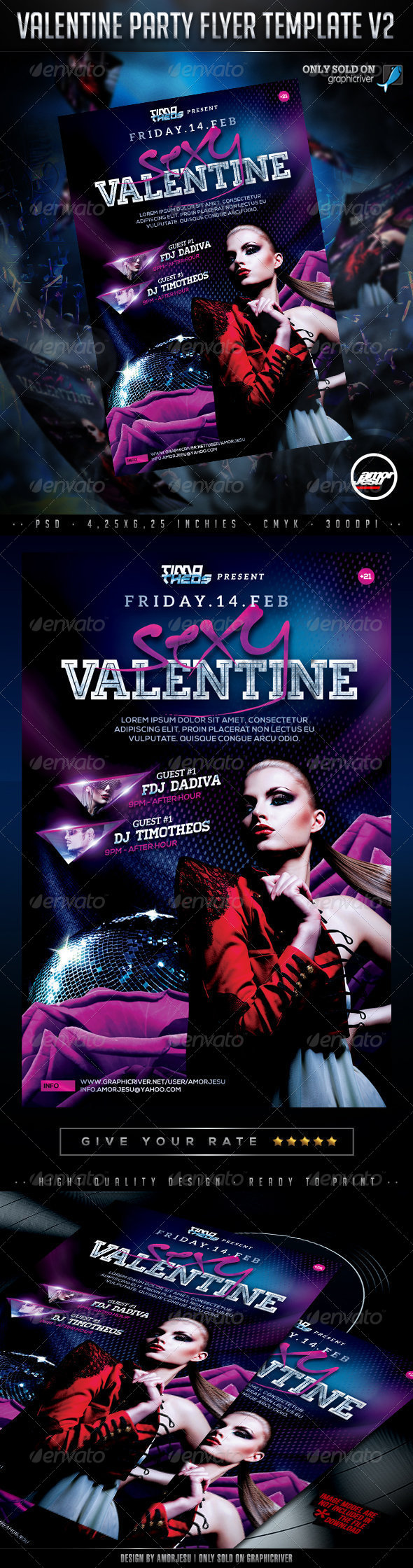 Valentine Party Flyer Template V2