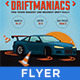 DriftManiacs Car Poster/Flyer VII - GraphicRiver Item for Sale