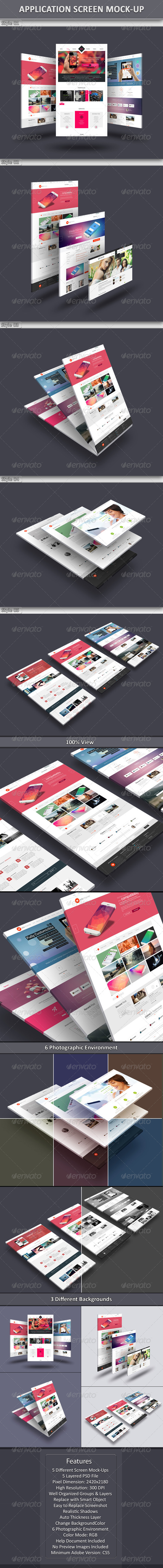 GraphicRiver App Screen Mock-Up 6851245