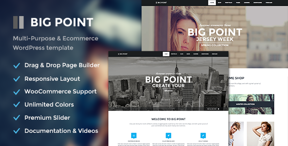 ThemeForest Big Point Multi-Purpose & Ecommerce Theme 6828209