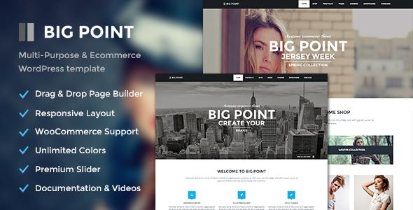 Big Point - Multi-Purpose & Ecommerce Theme - WooCommerce eCommerce