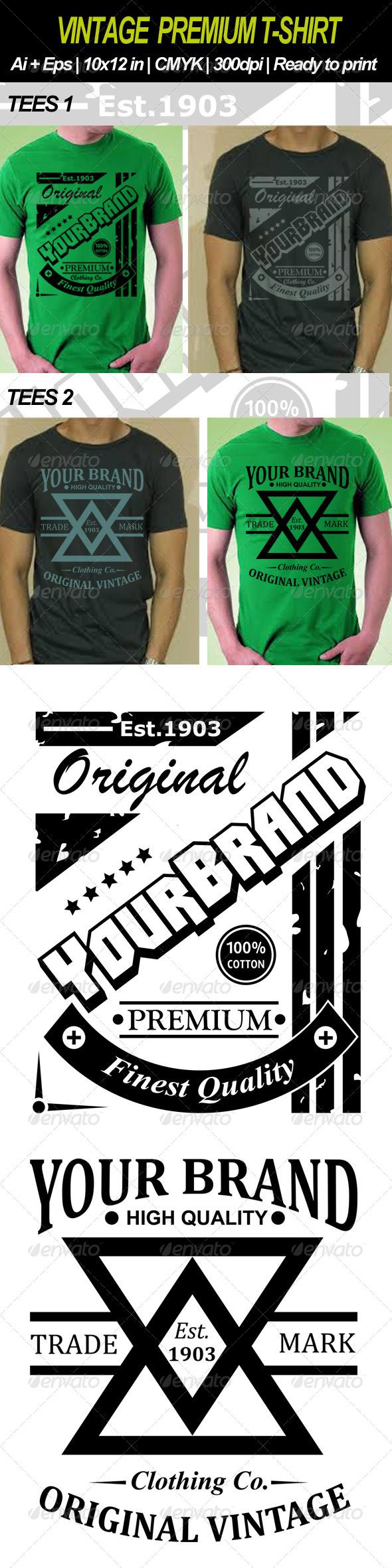 GraphicRiver Vintage Premium T-shirt 6851562