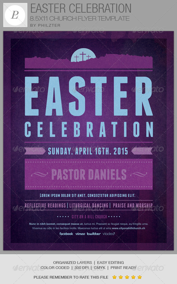 GraphicRiver Easter Celebration Church Flyer Template 6837095