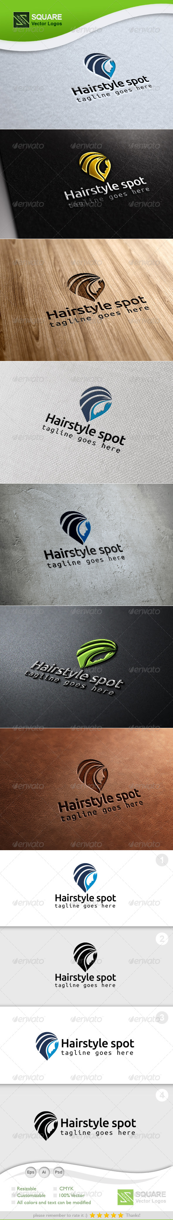 GraphicRiver Hair Locator Vector Logo Template 6851819