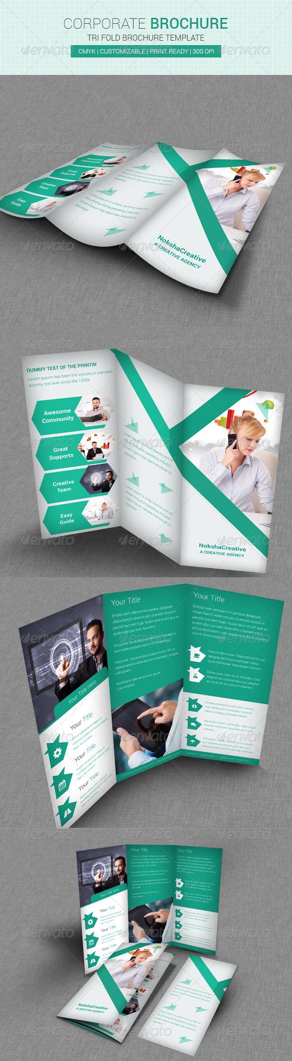 GraphicRiver Corporate Tri Fold Brochure 6851969