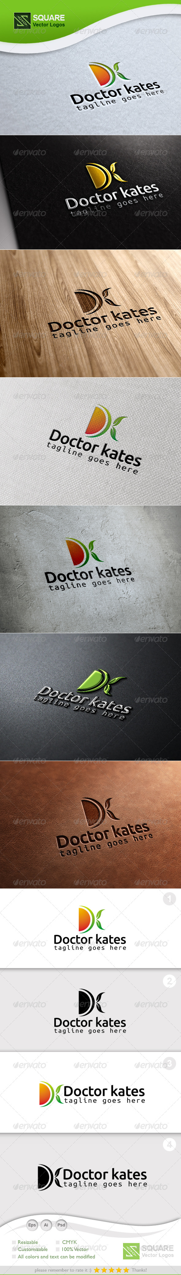 GraphicRiver D K Leafs Vector Logo Template 6852018