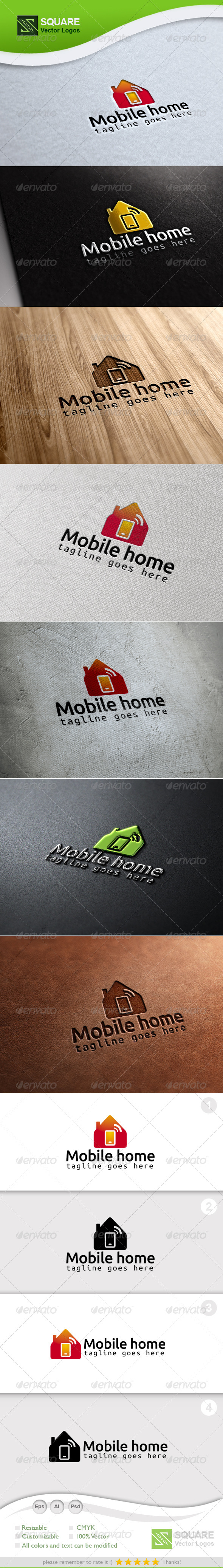 GraphicRiver Mobile Home Vector Logo Template 6852080