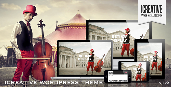 iCreative OnePage Portfolio WordPress Theme