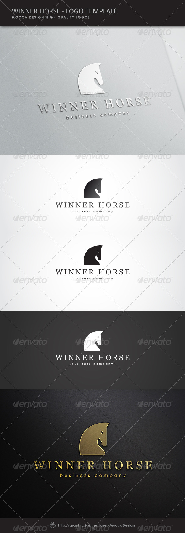 Winner Horse Logo - Animals Logo Templates