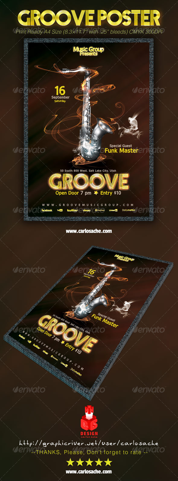 GraphicRiver Groove Poster 6831644