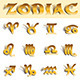 Zodiac Gold Symbols - GraphicRiver Item for Sale