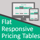 Flat Responsive Pricing Tables