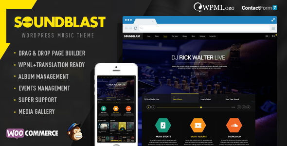 SoundBlast Music Band Wordpress Theme