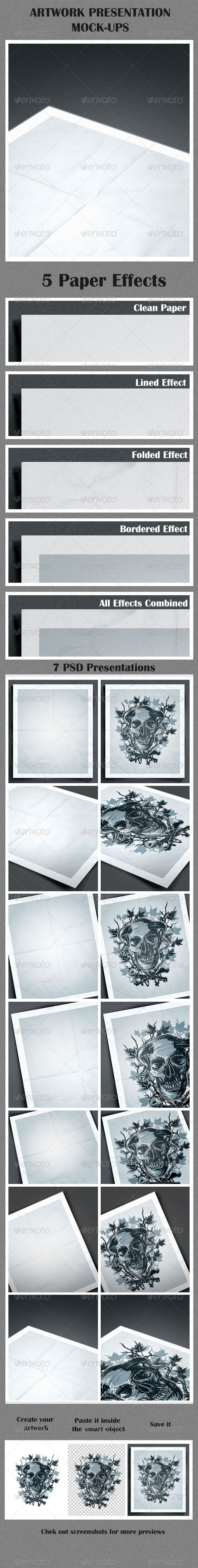 GraphicRiver Artwork Presentation Mock-Ups 6852709