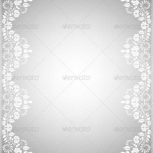 Template for Wedding Invitation or Greeting Card