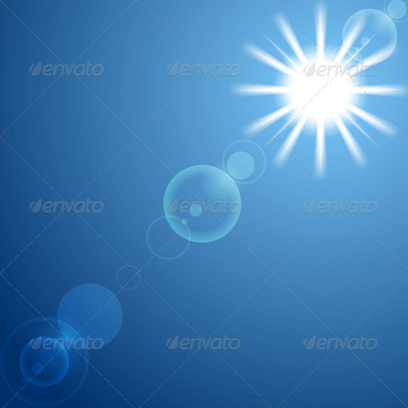 GraphicRiver Shining Sun on Blue Sky 6852889