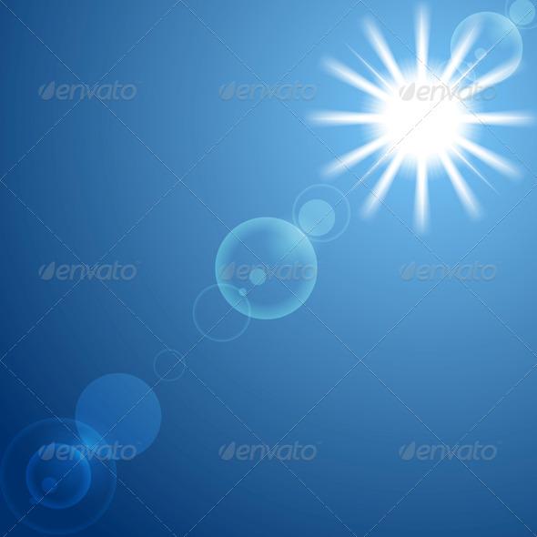 GraphicRiver Shining Sun on Blue Sky 6852889