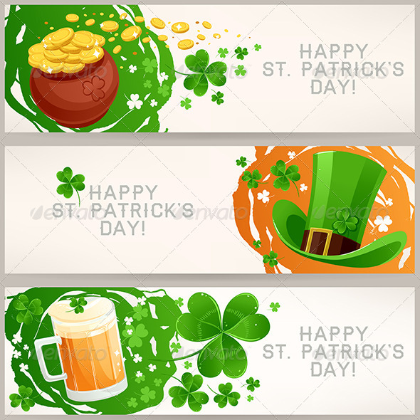 GraphicRiver Greeting Banners to St Patrick s Day 6852893