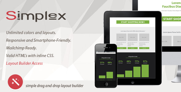SIMPLEX - Responsive Email With Layout Builder