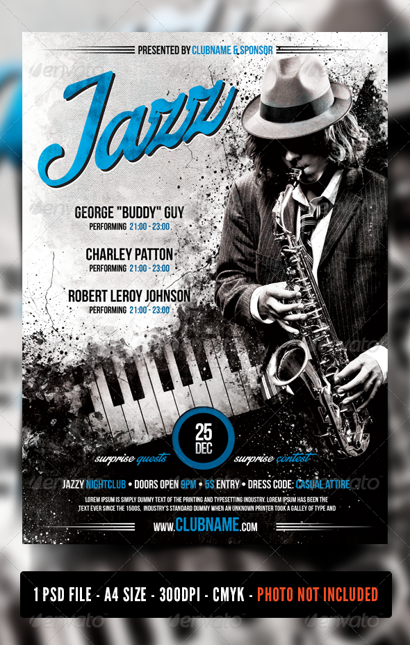 Jazz Blues Flyer Poster