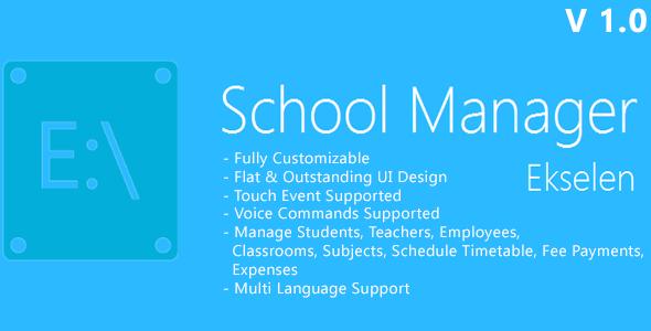 CodeCanyon Ekselen School Management System 6807248