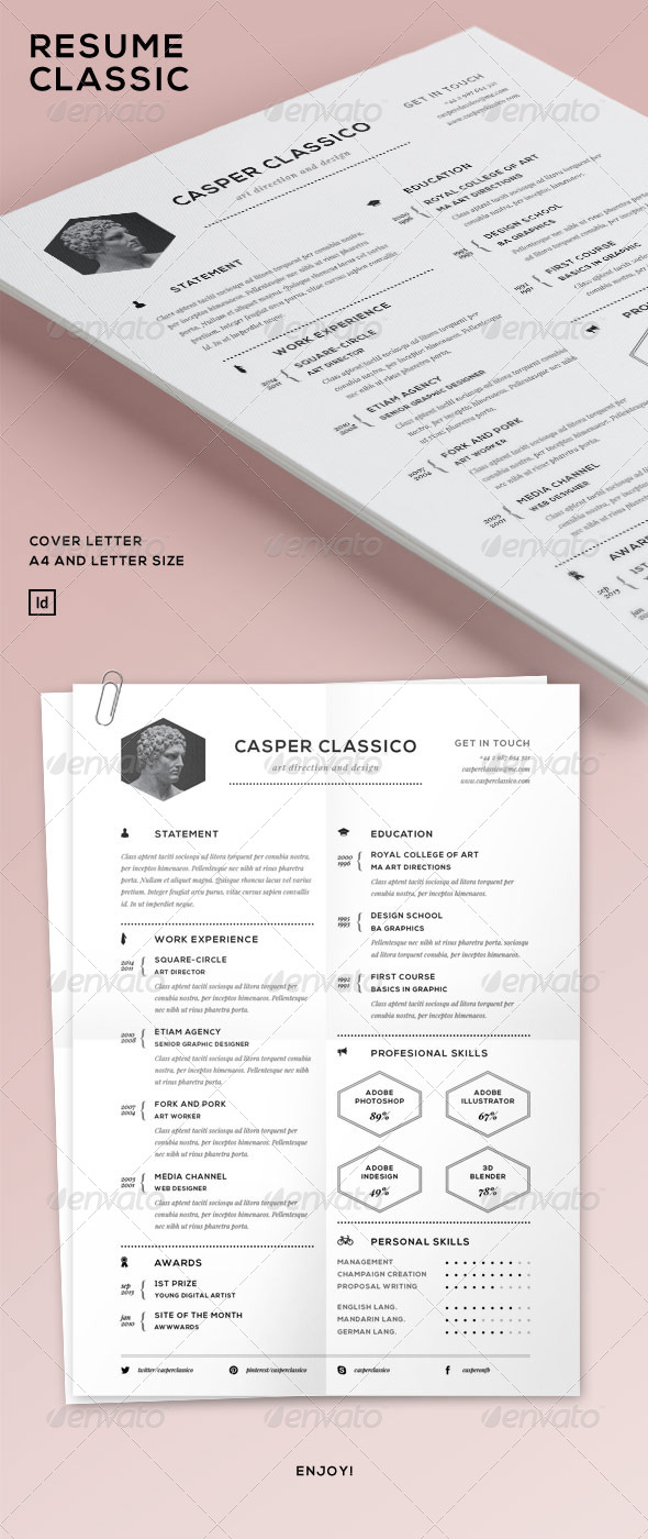 GraphicRiver Resume Classic 6853241