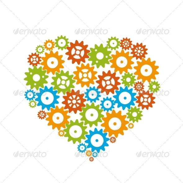 GraphicRiver Gear Heart 6853354