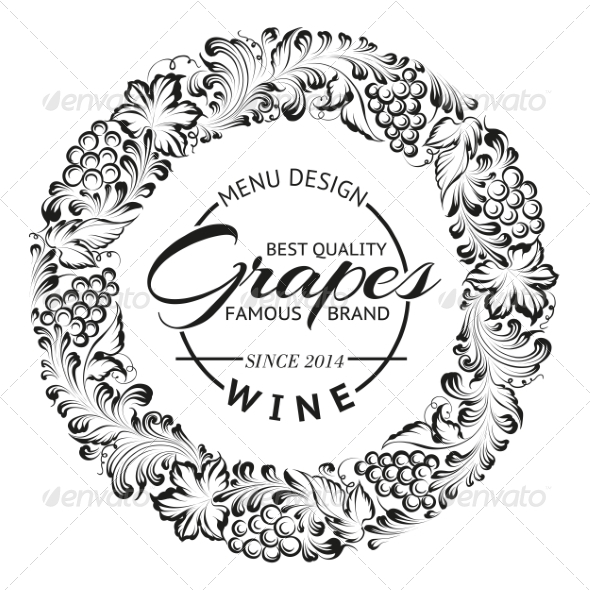 GraphicRiver Grapes Design for Wine Menu 6853364