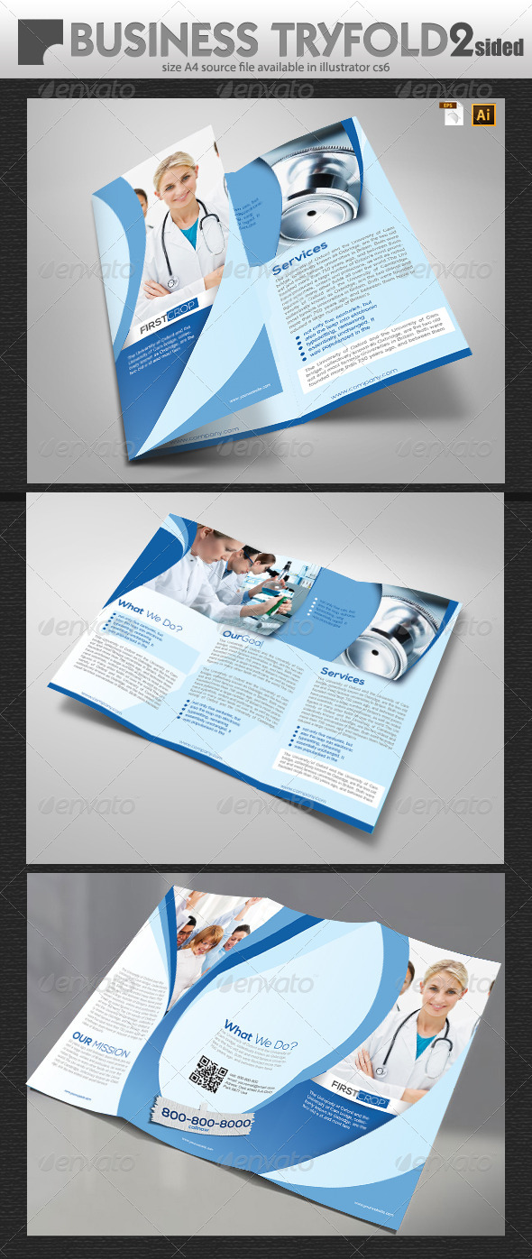 GraphicRiver Medical Tri fold Brochure Design 6854144