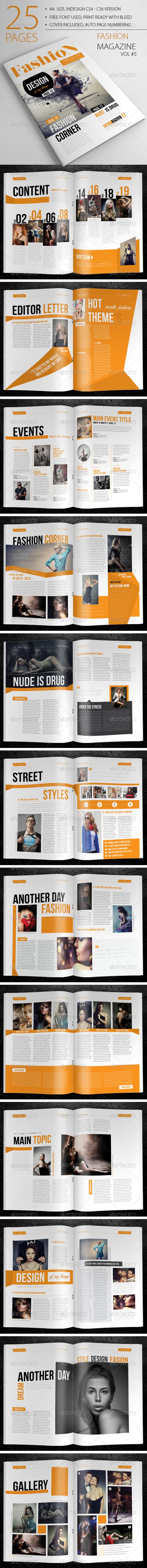 GraphicRiver 25 Pages Fashion Magazine Vol5 6835139
