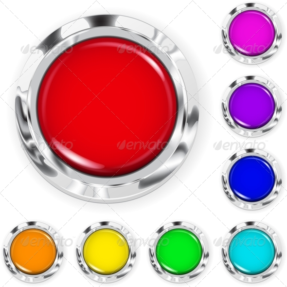 GraphicRiver Set of Big Multicolored Plastic Buttons 6854504