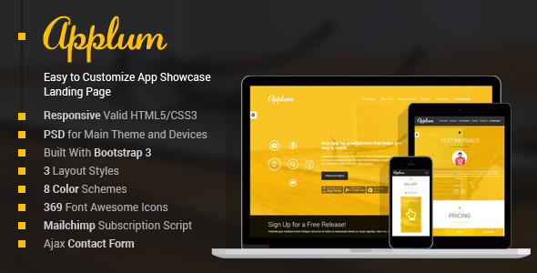 Applum - Responsive App Showcase Landing Page