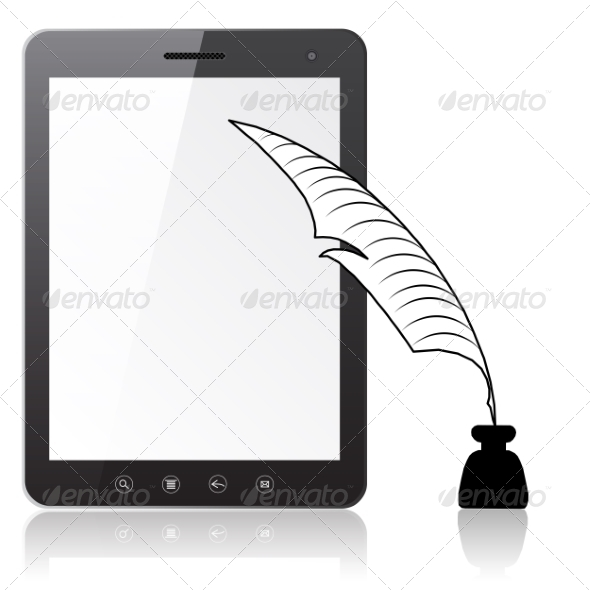 Tablet PC with a Pen and Ink