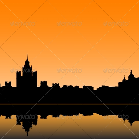 GraphicRiver Moscow Silhouette 6855246
