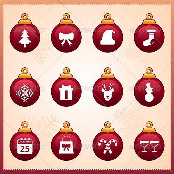 GraphicRiver Christmas Icons 6855248
