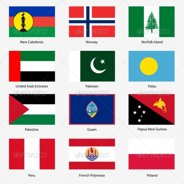 GraphicRiver Flag Set of World Sovereign States 6855262