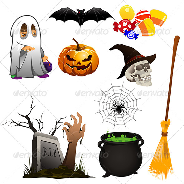 GraphicRiver Halloween Icons 6855558