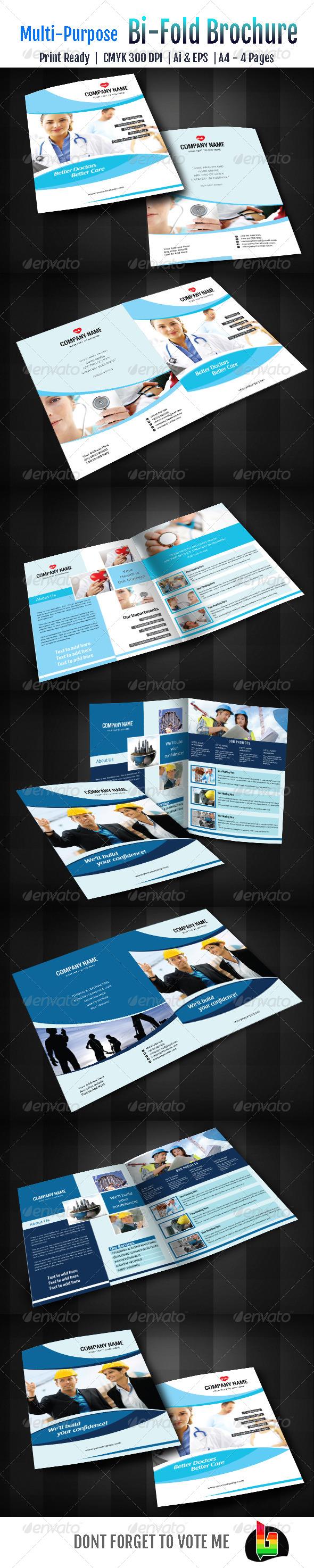GraphicRiver Multipurpose Bi-Fold Brochure 6837593