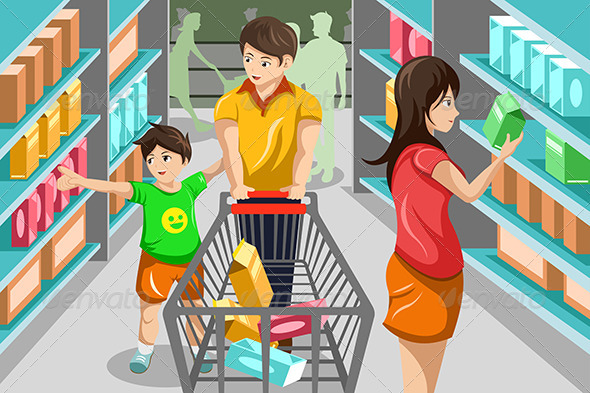 GraphicRiver Family Grocery Shopping 6855580