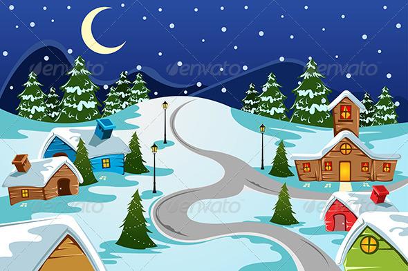GraphicRiver Winter Village 6855628