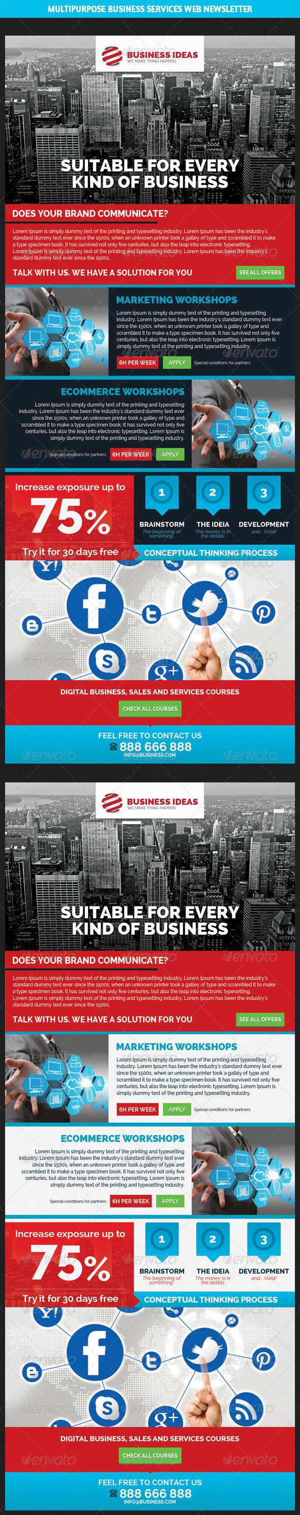 GraphicRiver Multipurpose Business & Services Web Newsletter 6855869