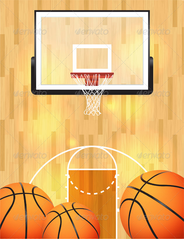GraphicRiver Vector Basketball Background 6855899